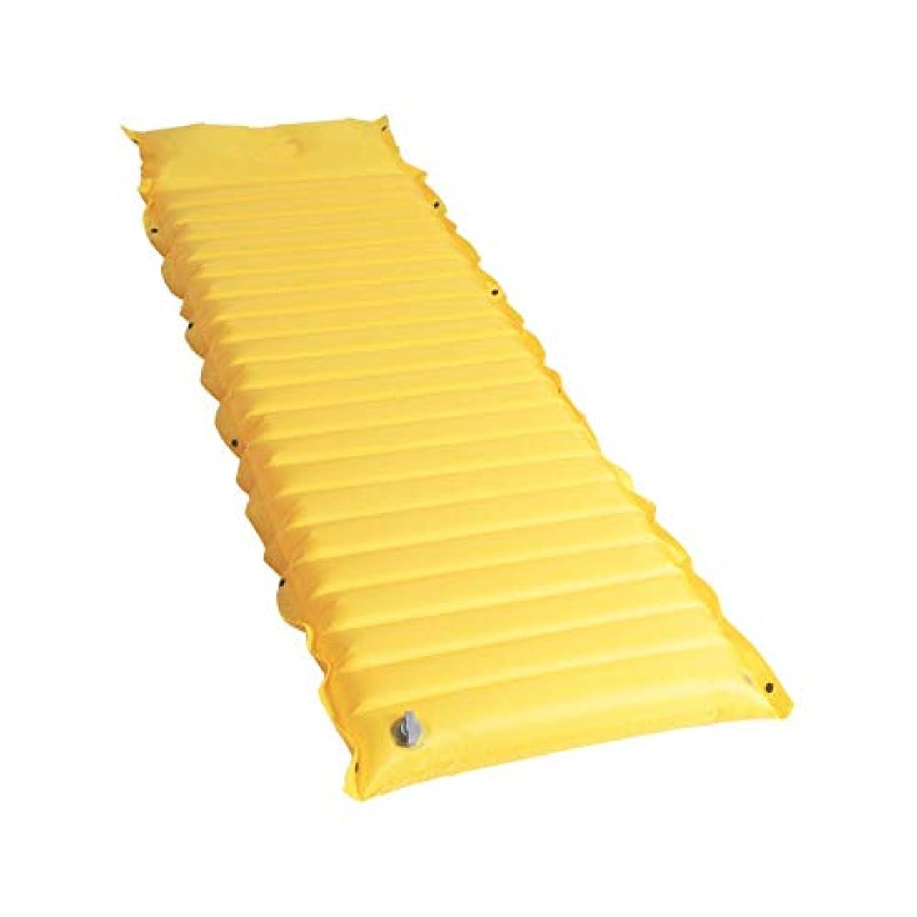 閉じるのためにわかるFeelyer エアマットレスポータブルキャンプ用スリーピングパッド膨張しやすいコンパクトでコンパクトな耐久性品質保証品質保証 顧客に愛されて (色 : 黄, サイズ : 185*55*8CM)