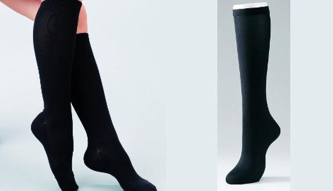 あそこ欠如ジャム【お得な5足組】スリムウォークのように履くだけでむくみスッキリ疲労も軽減!着圧レディースサポートリブハイソックス黒色