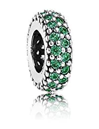 PANDORA Spacers Charms Dark Green Pave Bumbling Inspiration Within Charm Spacer