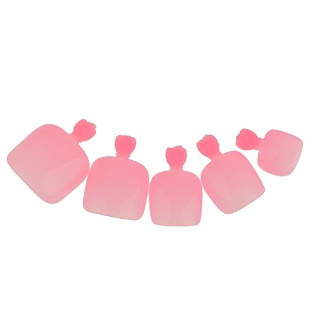 モチーフパラナ川分配します【ノーブランド品】24個 フルカバー ペディキュア 人工 ネイルアート ヒント 全14色選べる - ピンク