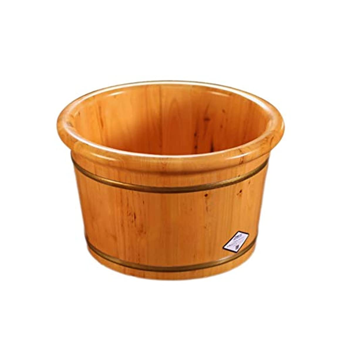 急いで銀原始的な木製の足浴槽、家庭用足浴、足を浸すための足浴槽、ペディキュアスパマッサージ