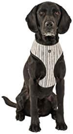 MOG & BONE Neoprene Dog Harness Oatmeal Stripe Print X-L