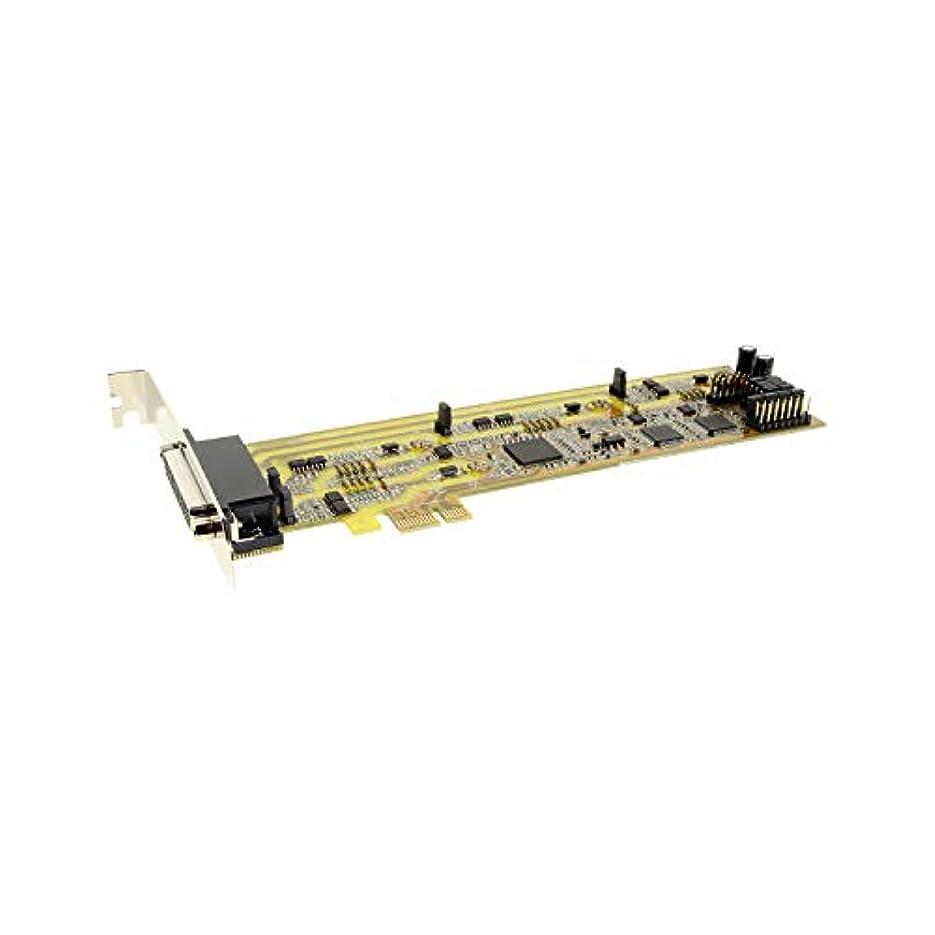 扇動する曲がったフィラデルフィアserialgear QuadポートシリアルRS - 422 / 485 PCIeカード、W / db44 Octopusケーブル