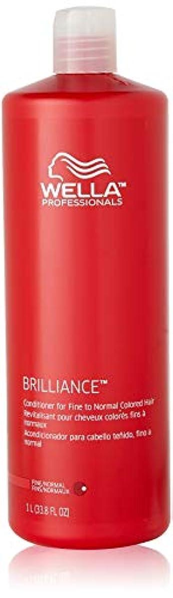 入手します大事にする北Wella Brilliance Conditioner for Fine To Normal Hair for Unisex, 33.8 Ounce by Wella