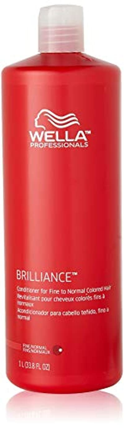 肥満私たちのものクモWella Brilliance Conditioner for Fine To Normal Hair for Unisex, 33.8 Ounce by Wella