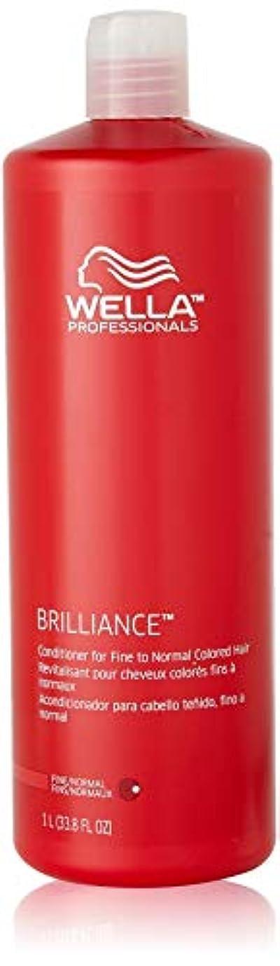 百バッジ気取らないWella Brilliance Conditioner for Fine To Normal Hair for Unisex, 33.8 Ounce by Wella