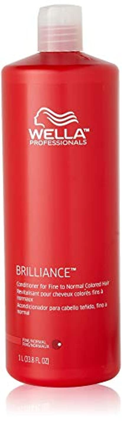 爆発死ぬ賞賛するWella Brilliance Conditioner for Fine To Normal Hair for Unisex, 33.8 Ounce by Wella