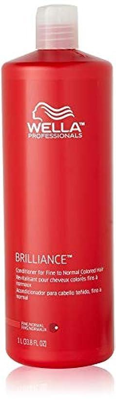 位置づける成り立つバレーボールWella Brilliance Conditioner for Fine To Normal Hair for Unisex, 33.8 Ounce by Wella