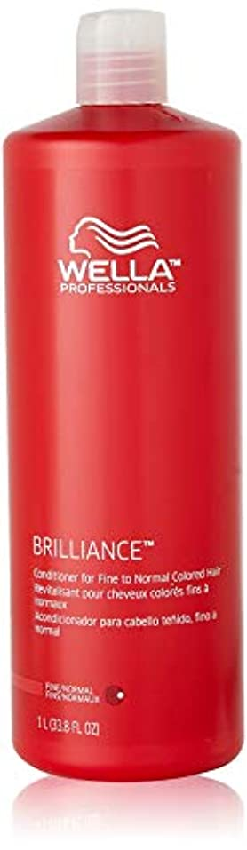 横肘作りますWella Brilliance Conditioner for Fine To Normal Hair for Unisex, 33.8 Ounce by Wella