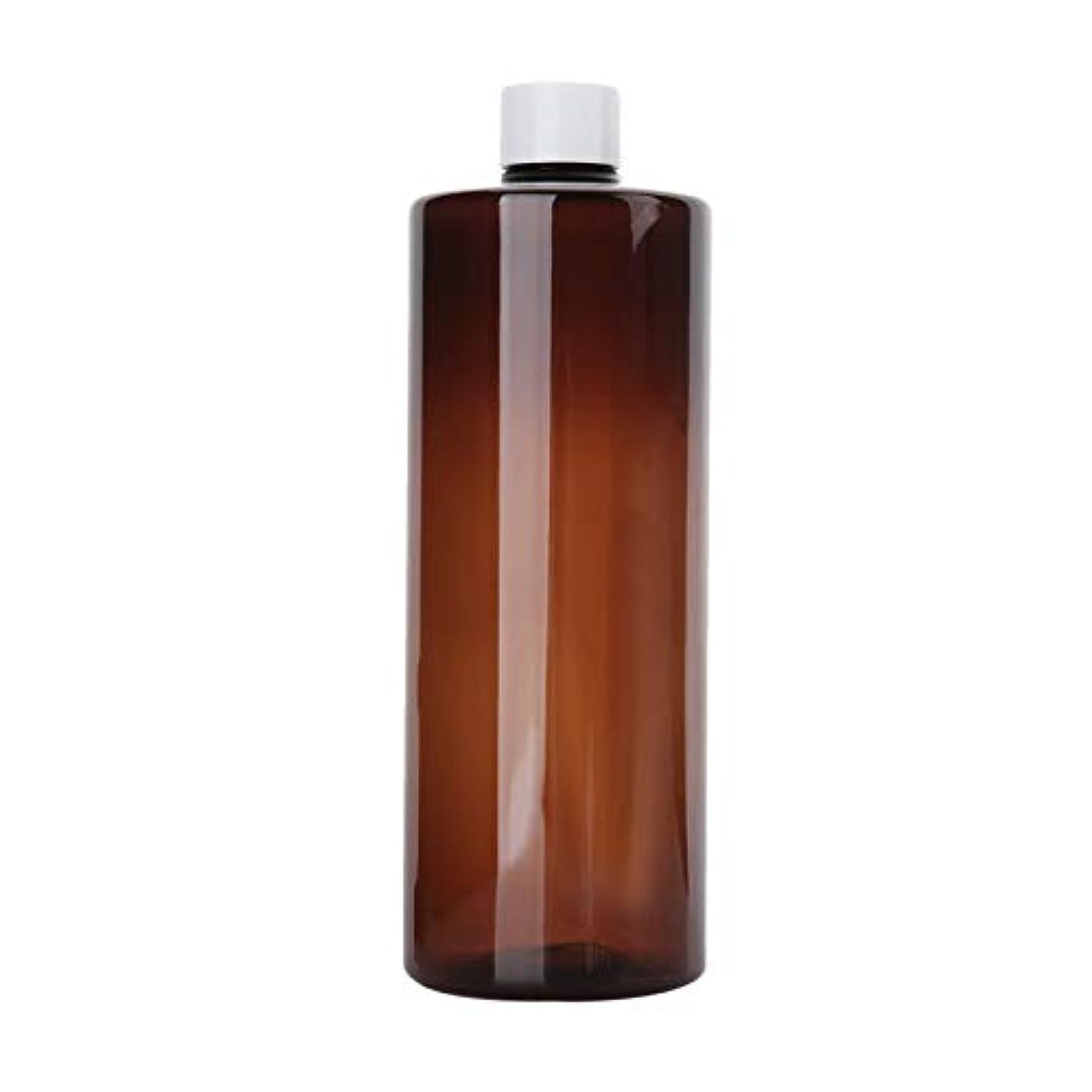 冷凍庫擬人カルシウム1本 化粧品用 詰め替えボトル 詰め替え容器 大容量 500ml 中栓付き 使いやすい 化粧水用 シャンプー クリーム 貯蔵用 携帯用 空容器 おしゃれ 白ヘッド ブラウン