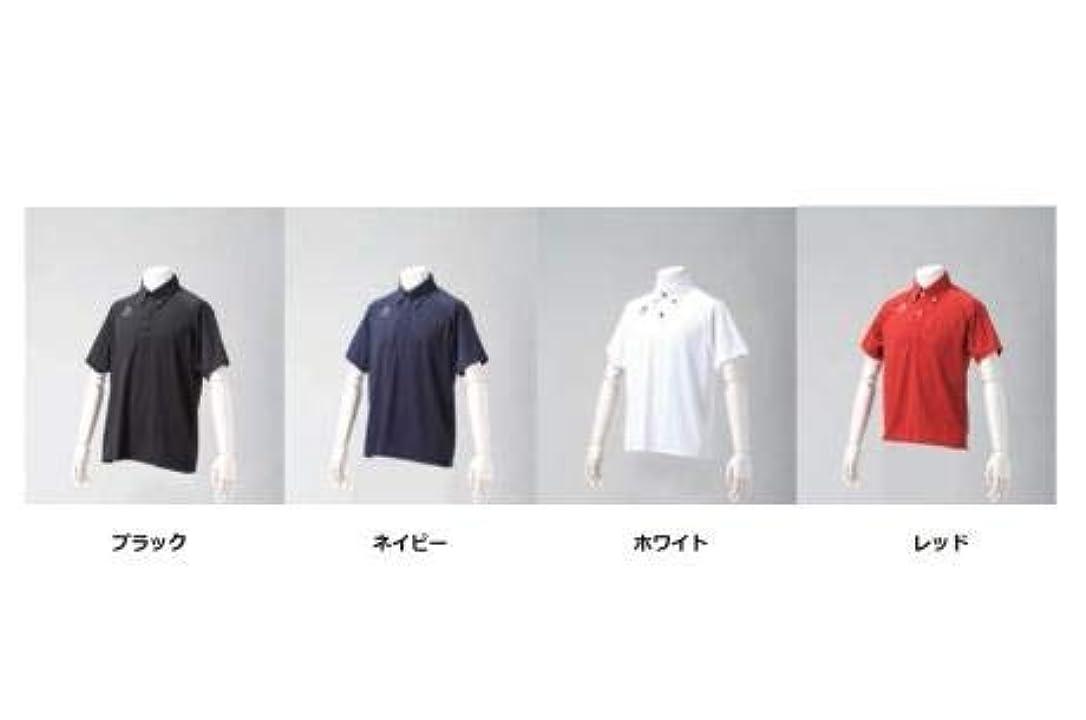 回路居間国歌ファイテン(phiten) ポロシャツ (OZ) ボタンダウン2 (半袖タイプ)ネイビー Sサイズ