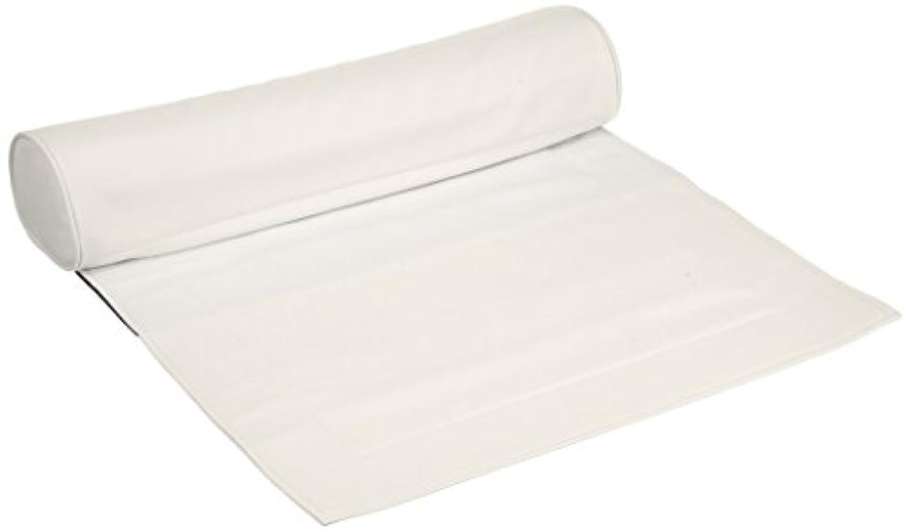 扇動縫い目文明マット&ピローセット ホワイト