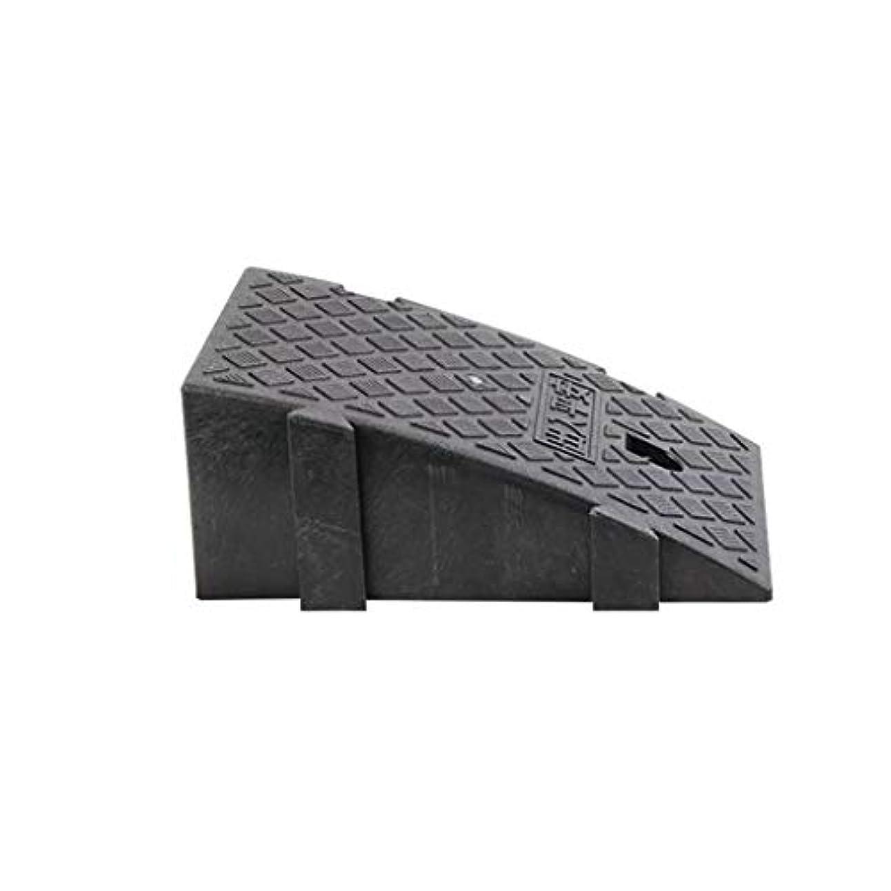 否定するキルス農夫XUZgag ポータブルスロープパッド、車用傾斜路ポータブル小型トライアングルパッド上りパッドステップ階段車椅子上りパッド滑り止めマット ノンスリップ (Color : Black, Size : 24.5*43.5*18.5CM)