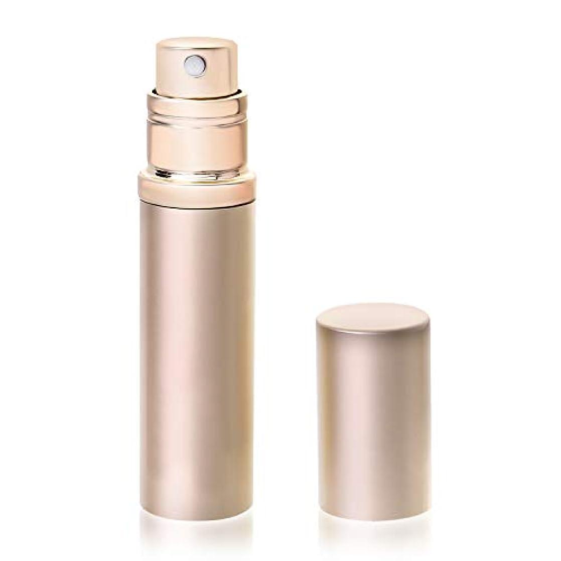 たまに倒錯奨励アトマイザ- 香水 容器 詰め替え クイック 携帯用 詰め替え 香水用 ワンタッチ補充 ポータブル 香水噴霧器 香水スプレー シャンパンゴールド YOOMARO