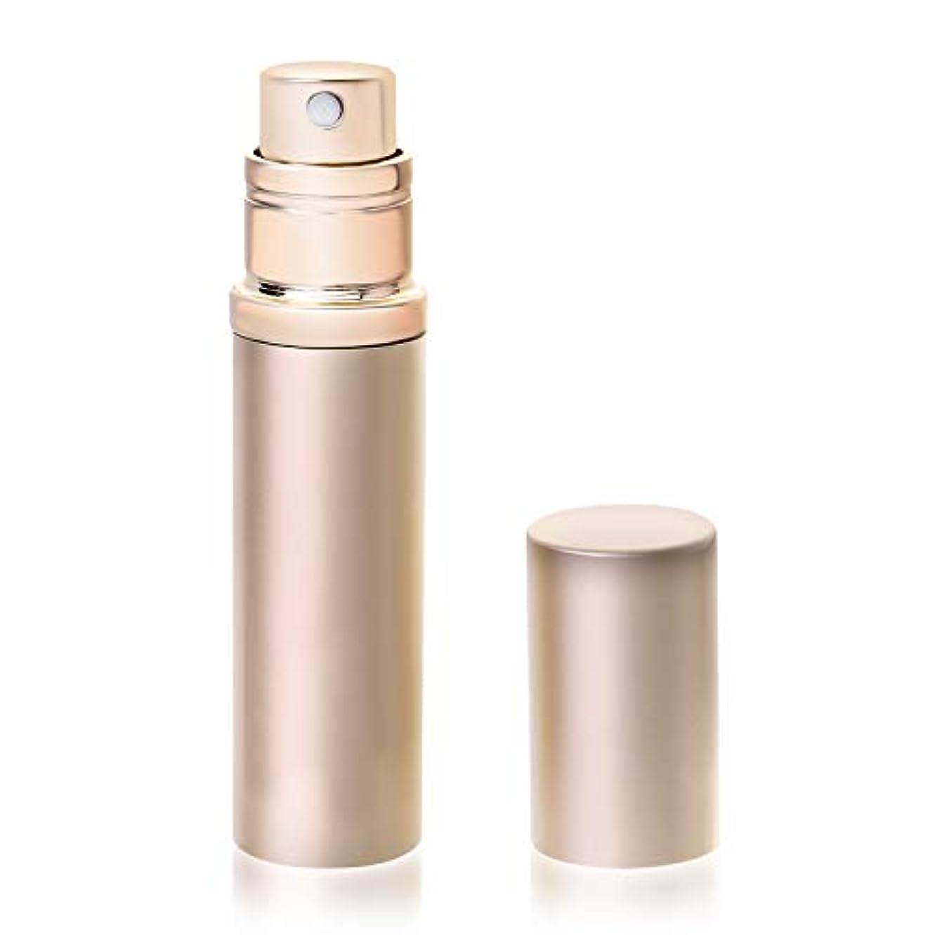 一口突然ネブアトマイザ- 香水 容器 詰め替え クイック 携帯用 詰め替え 香水用 ワンタッチ補充 ポータブル 香水噴霧器 香水スプレー シャンパンゴールド YOOMARO