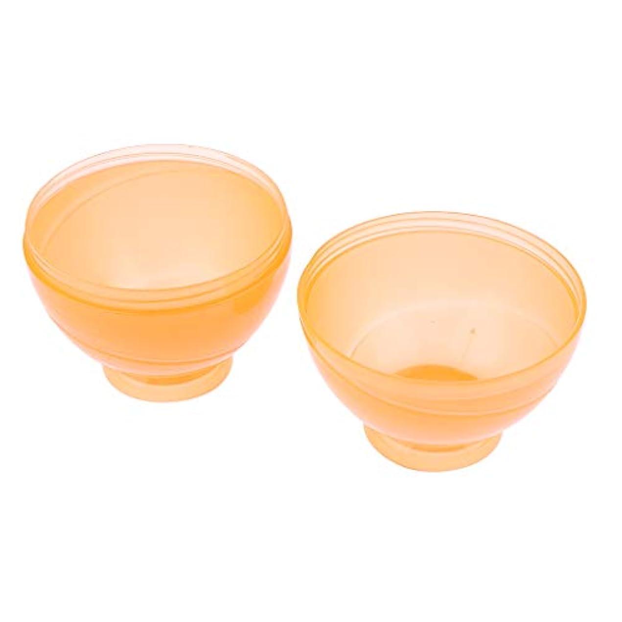 散髪写真の出発B Blesiya ヘアカラー ミキシングボトル プロ ヘアサロン DIY サロンツール 3色選べ - オレンジ
