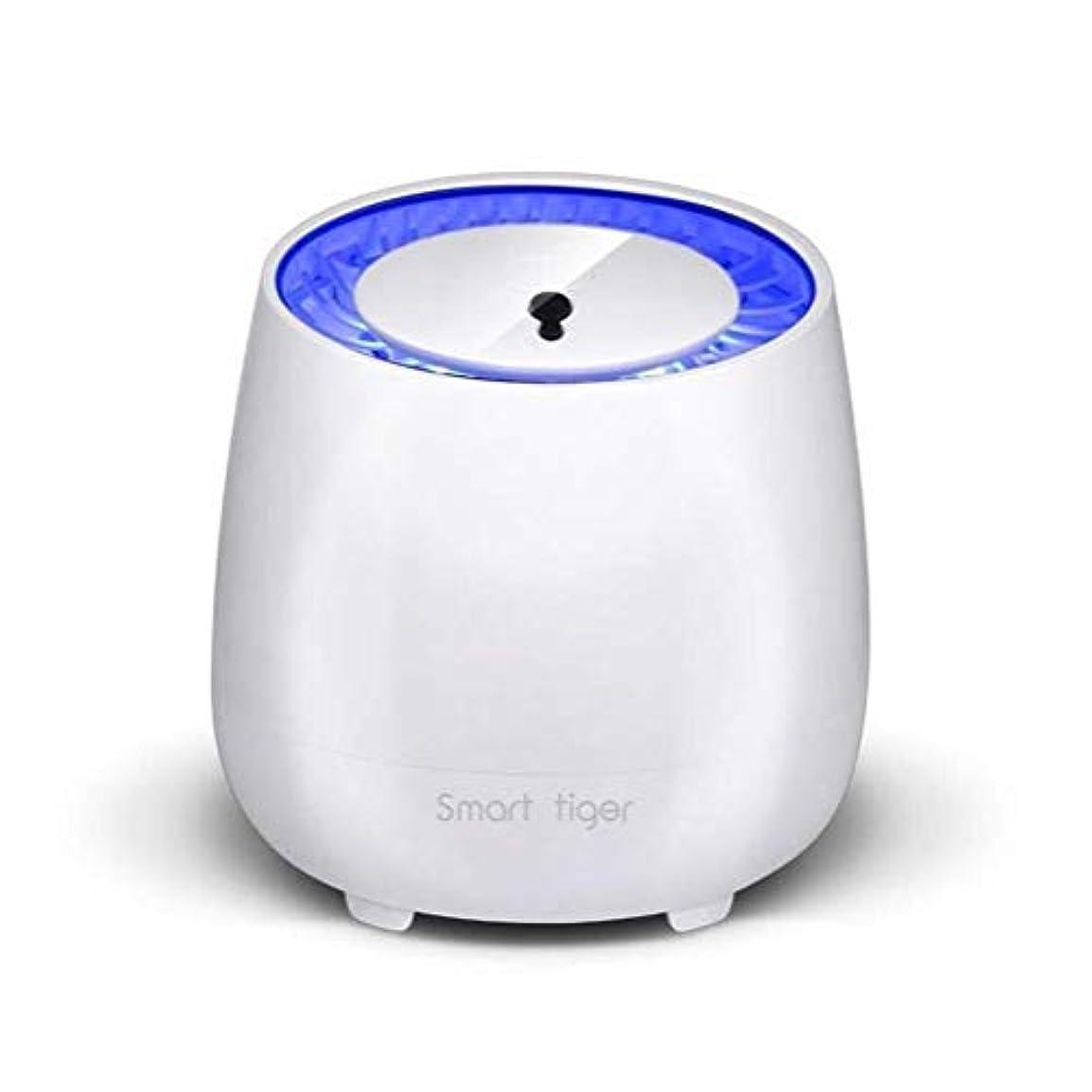 システム描く掻く屋外/家の光触媒の蚊のキラー、放射無し超静かなLEDの電子カのキラー、USBの充満/作り付け電池理性的な光制御 (色 : 白)