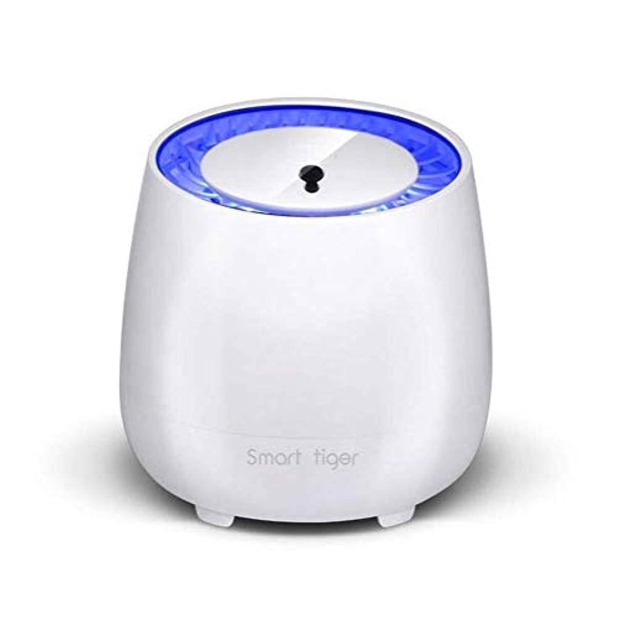 レモン推定私たちの屋外/家の光触媒の蚊のキラー、放射無し超静かなLEDの電子カのキラー、USBの充満/作り付け電池理性的な光制御 (色 : 白)