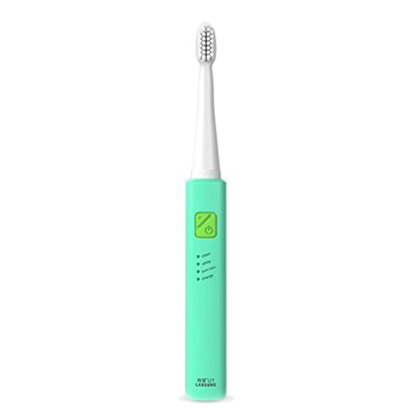 傷跡消費夕暮れ電子歯ブラシ 超音波ロータリー ノンスリップ防水歯ブラシ 歯科口腔衛生