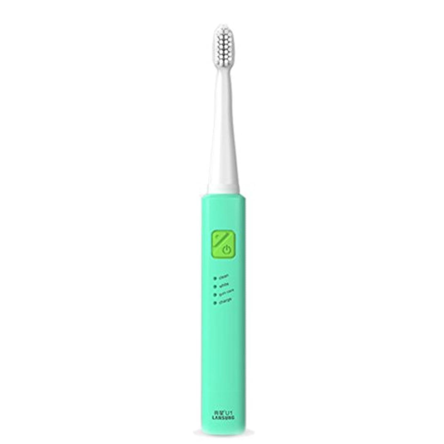 仲間相互接続つぶやき電子歯ブラシ 超音波ロータリー ノンスリップ防水歯ブラシ 歯科口腔衛生