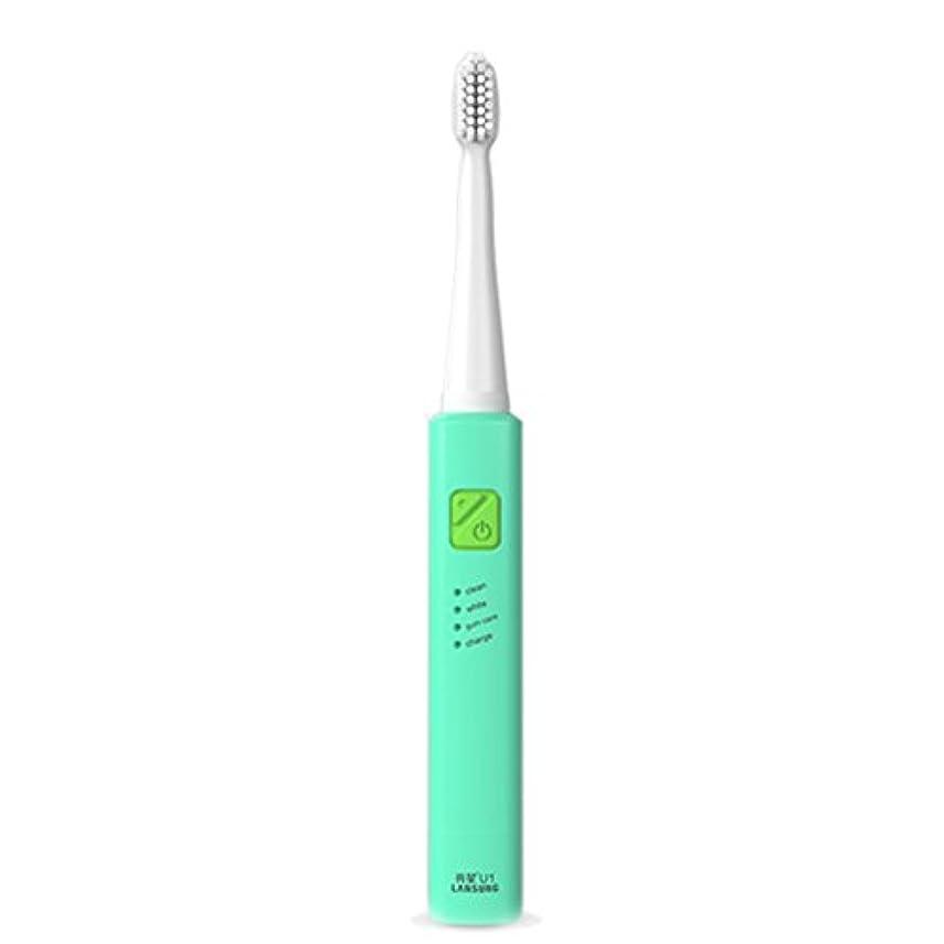 貨物値する戻る電子歯ブラシ 超音波ロータリー ノンスリップ防水歯ブラシ 歯科口腔衛生