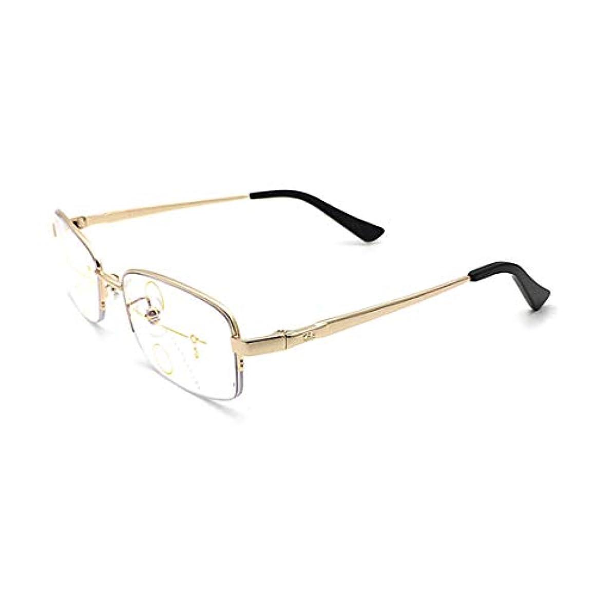 プログレッシブ多焦点インテリジェント老眼鏡、遠近両用、放射線防護、紫外線防護、女性と男性用