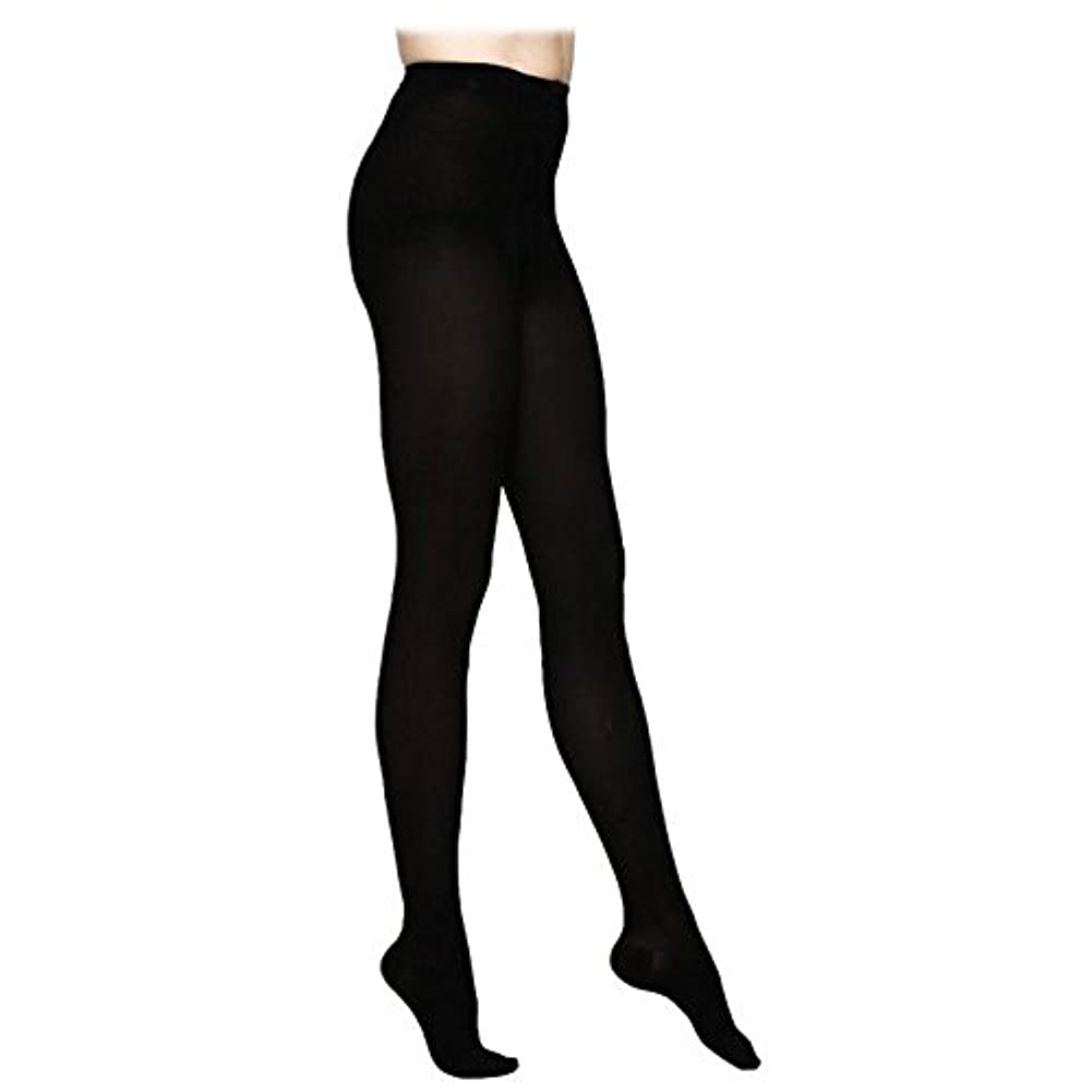 Sigvaris Access 972PLLO99 20-30 mmHg Open Toe Pantyhose, Black, Large-Long by Sigvaris