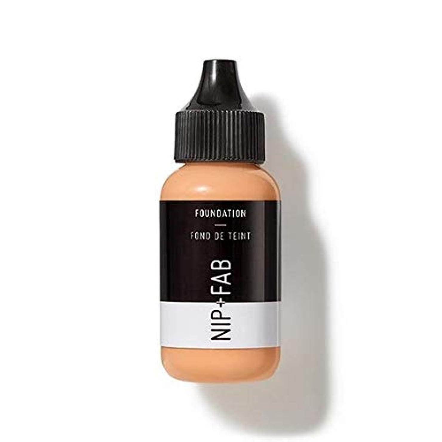 トマト好意的ブリード[Nip & Fab ] 基礎30ミリリットル25を構成しているFab +ニップ - NIP+FAB Make Up Foundation 30ml 25 [並行輸入品]