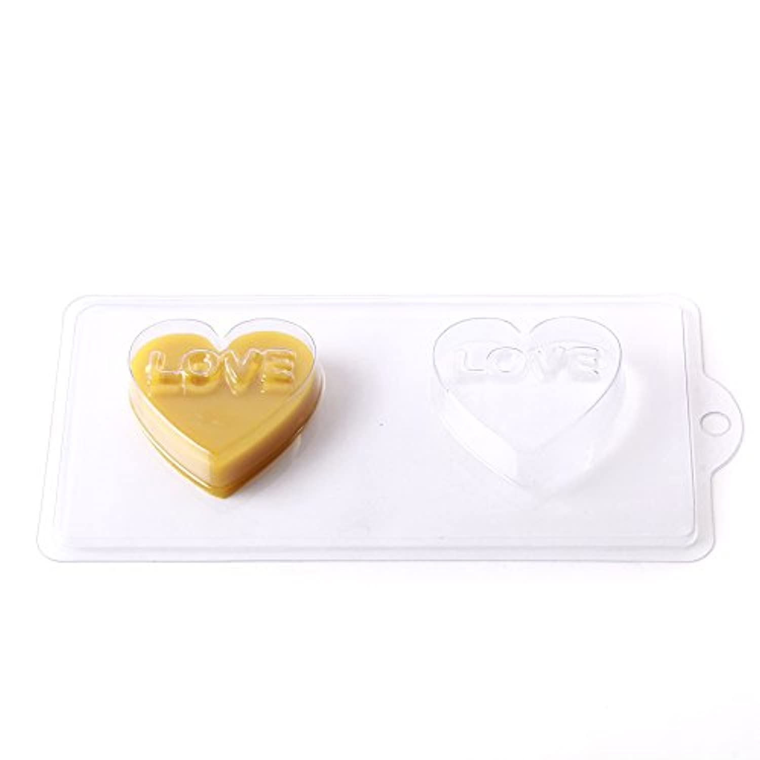 5 Cavity Heart With Love Soap/Bath Bomb Mould Mold D08 x 5