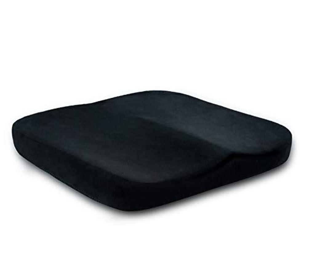 ポール海里銛車椅子用 クッション 車いす 介護 福祉 腰痛 猫背 痔 お尻 疲れにくい 負担軽減車椅子 (短い豪華な黒)