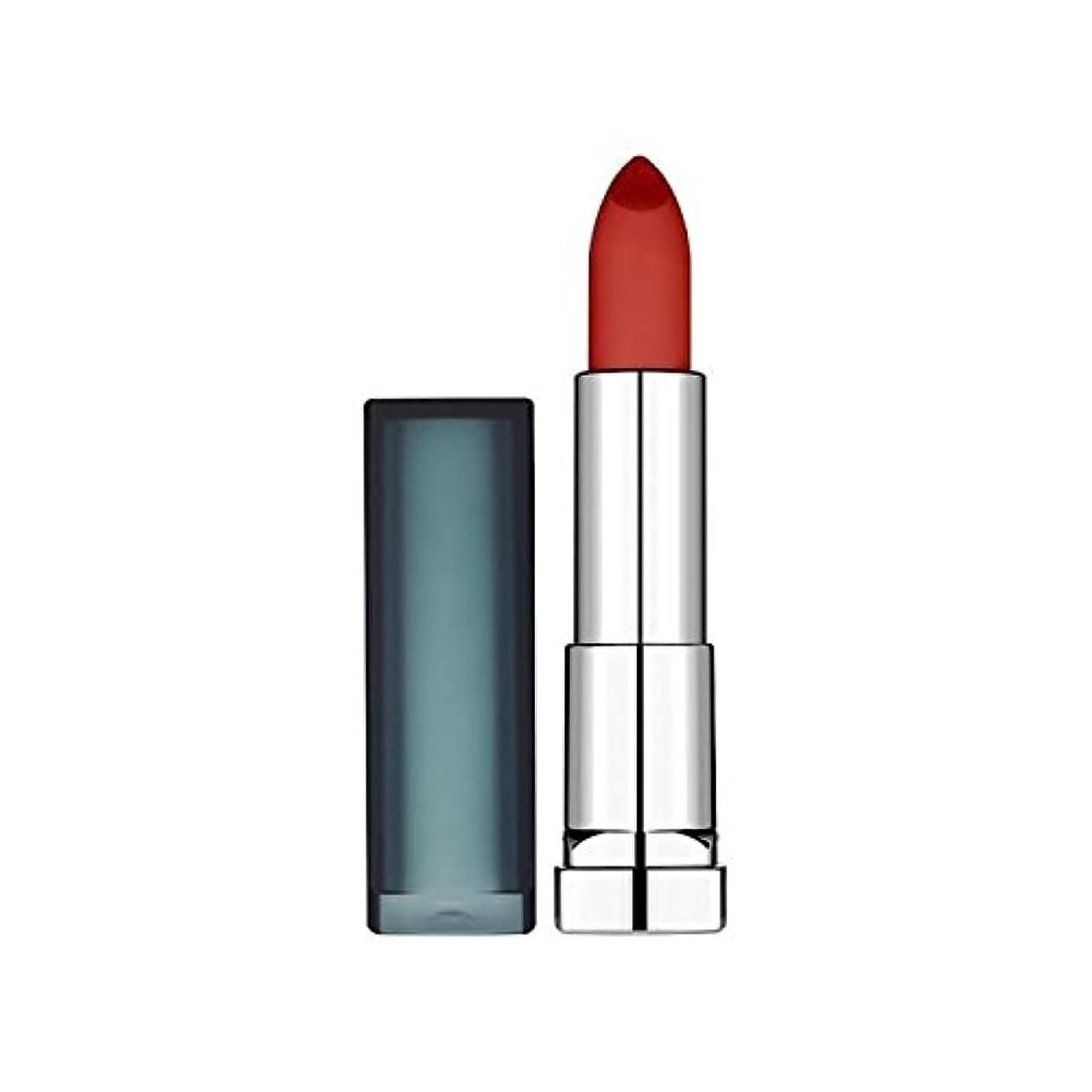 クリップ誕生インフルエンザMaybelline Sensational Lipstick Creamy Matte Burgundy Blush - メイベリンセンセーショナルな口紅クリーミーマットバーガンディ赤面 [並行輸入品]
