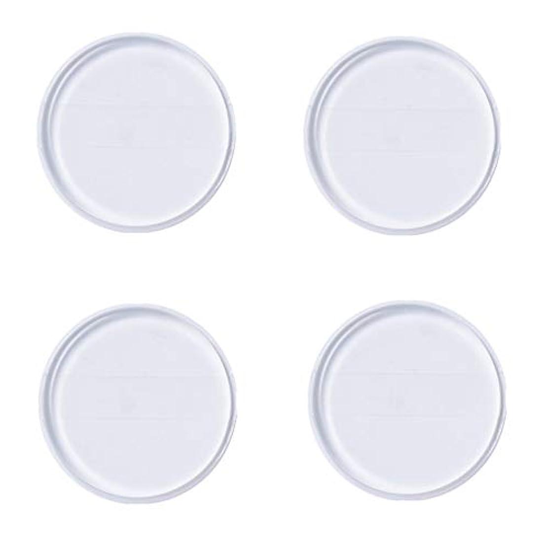 レンズ式にじみ出るKingsie シリコンパフ 帯付き 4個セット 丸型 透明 柔らかい ファンデーションパフ ゲルパフ メイクスポンジ 水洗い 清潔