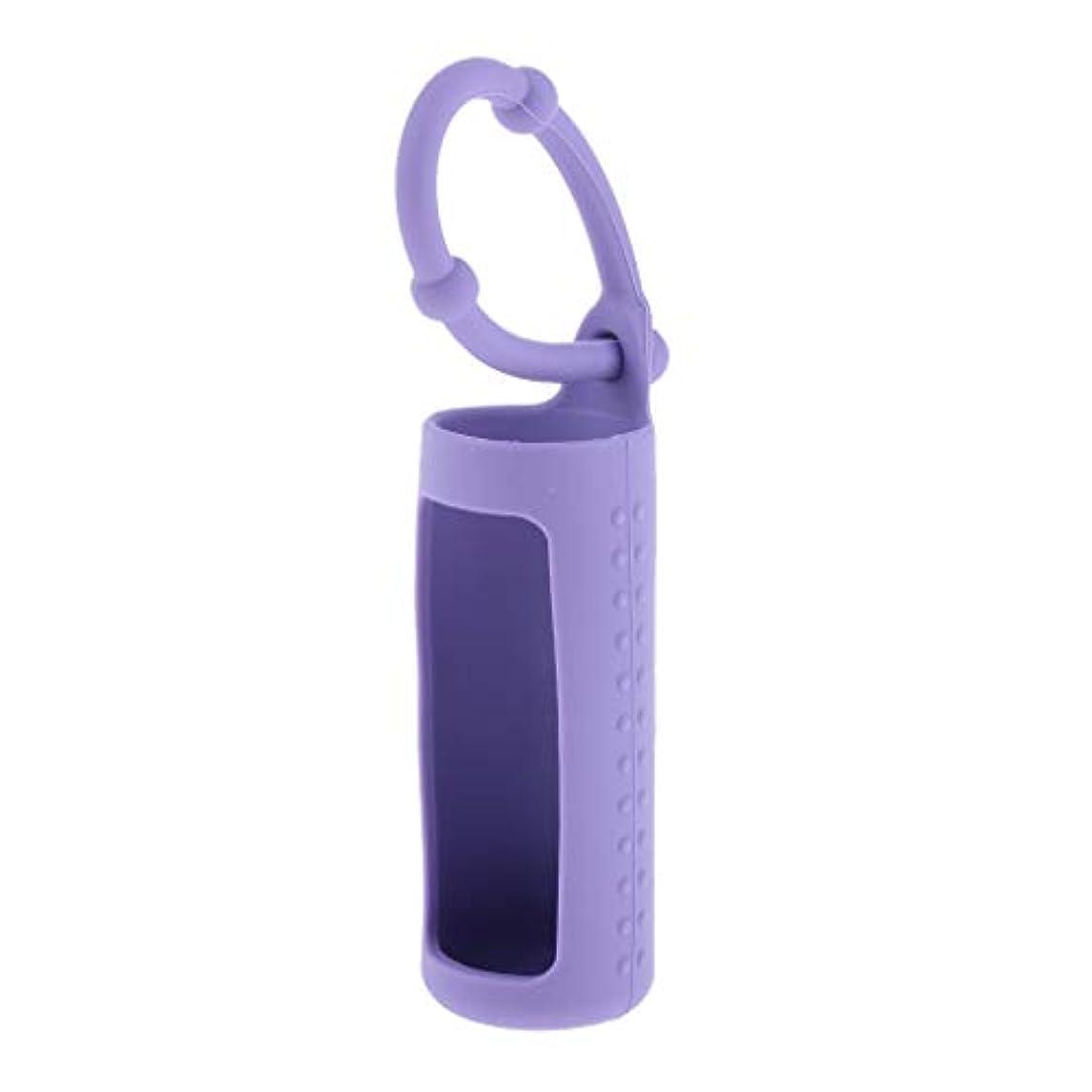フォーマル牛葉っぱdailymall エッセンシャルオイル 精油 香水ボトル ホルダー 詰替え容器 吊り掛け 10ml 全6色 - 紫