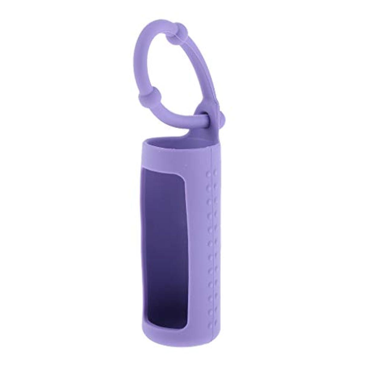残酷な確立発疹dailymall エッセンシャルオイル 精油 香水ボトル ホルダー 詰替え容器 吊り掛け 10ml 全6色 - 紫
