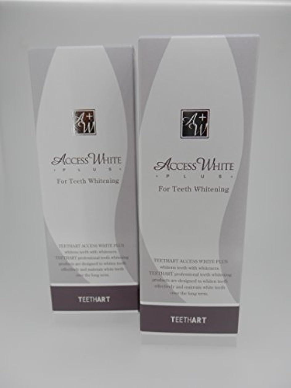 極地桃症候群TEETHART(ティースアート) アクセスホワイトプラス ローズミントハーブタイプ 2本セット