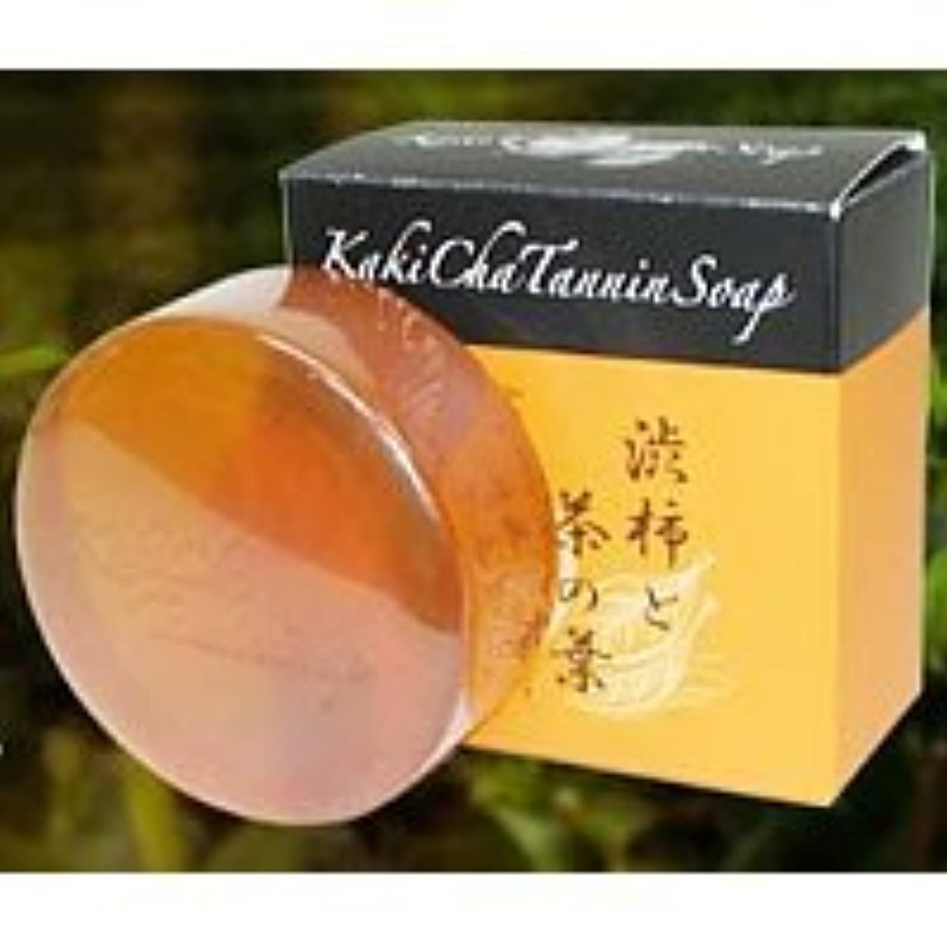 活性化する反動知り合いになるカキチャタンニンソープ 安心の日本製 カキチャタンニンソープ (マイルドクリアソープ) カキチャ タンニンソープ 柿渋ソープ