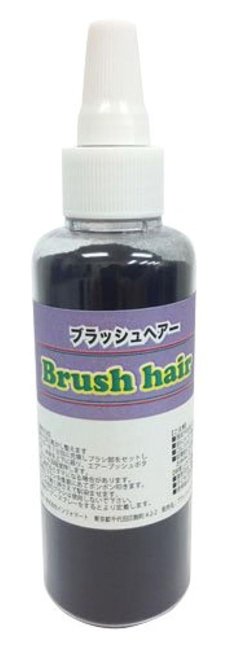 段階チキン途方もないブラッシュヘアー 詰め替え用ブラック-(35g入り)