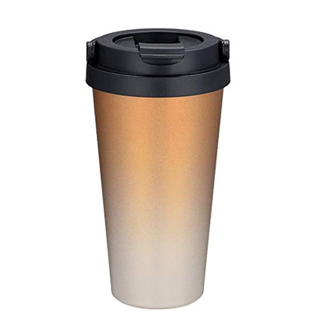 色合い用量日帰り旅行にスポーツウォーターボトル アメリカンコーヒーカップ304ステンレス鋼コールドカップマグクリエイティブギフトカップ アウトドアハイキングキャンプ?家庭用 (色 : ブラック)