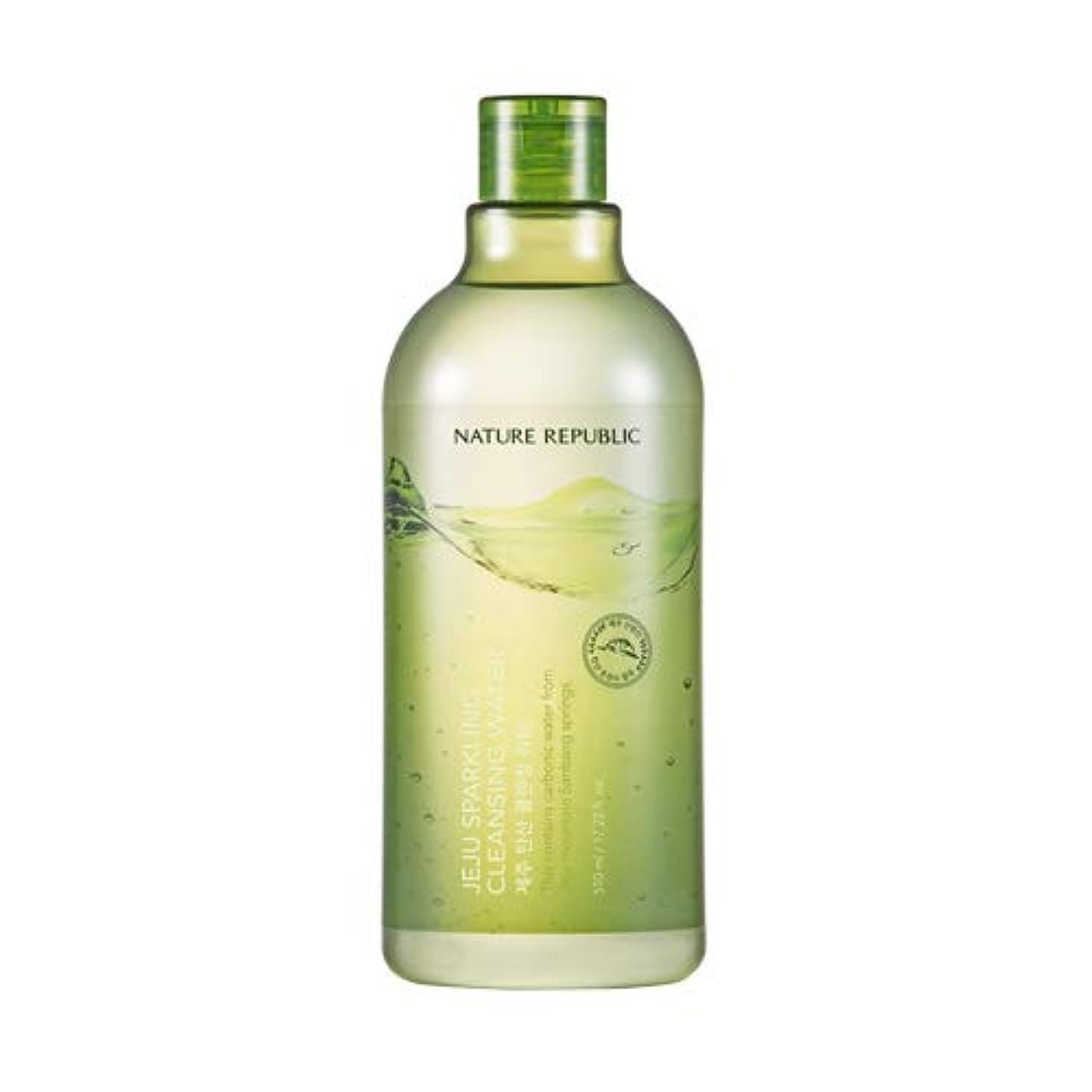 巧みな逃れるズームNature republic Jeju Sparkling(Carbonic) Cleansing Water ネイチャーリパブリック済州炭酸クレンジングウォーター 510ml [並行輸入品]