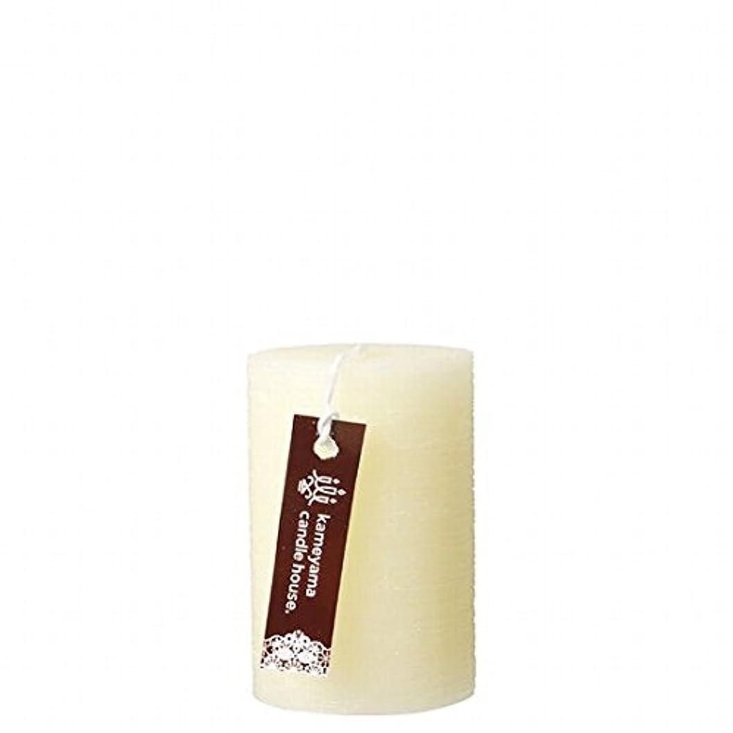カメヤマキャンドル(kameyama candle) ブラッシュピラー2×3 「 アイボリー 」