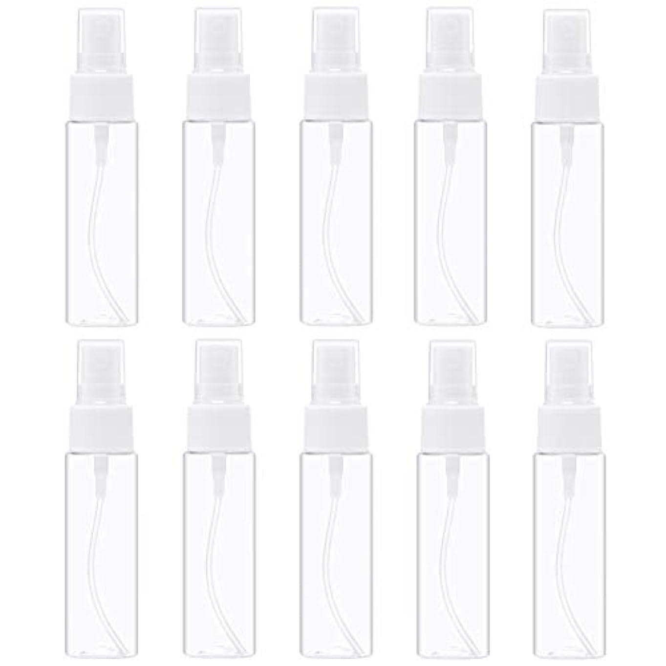 必要ないれるれるスプレーボトル 30ml 透明 空容器 10本 セット