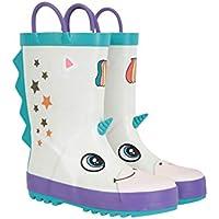 Mountain Warehouse Character Junior Kids Wellies - Waterproof Rain Boots, Extra Comfort Wellington Shoes, Durable, Easy to Wipe Footwear - for Walking, Outdoor