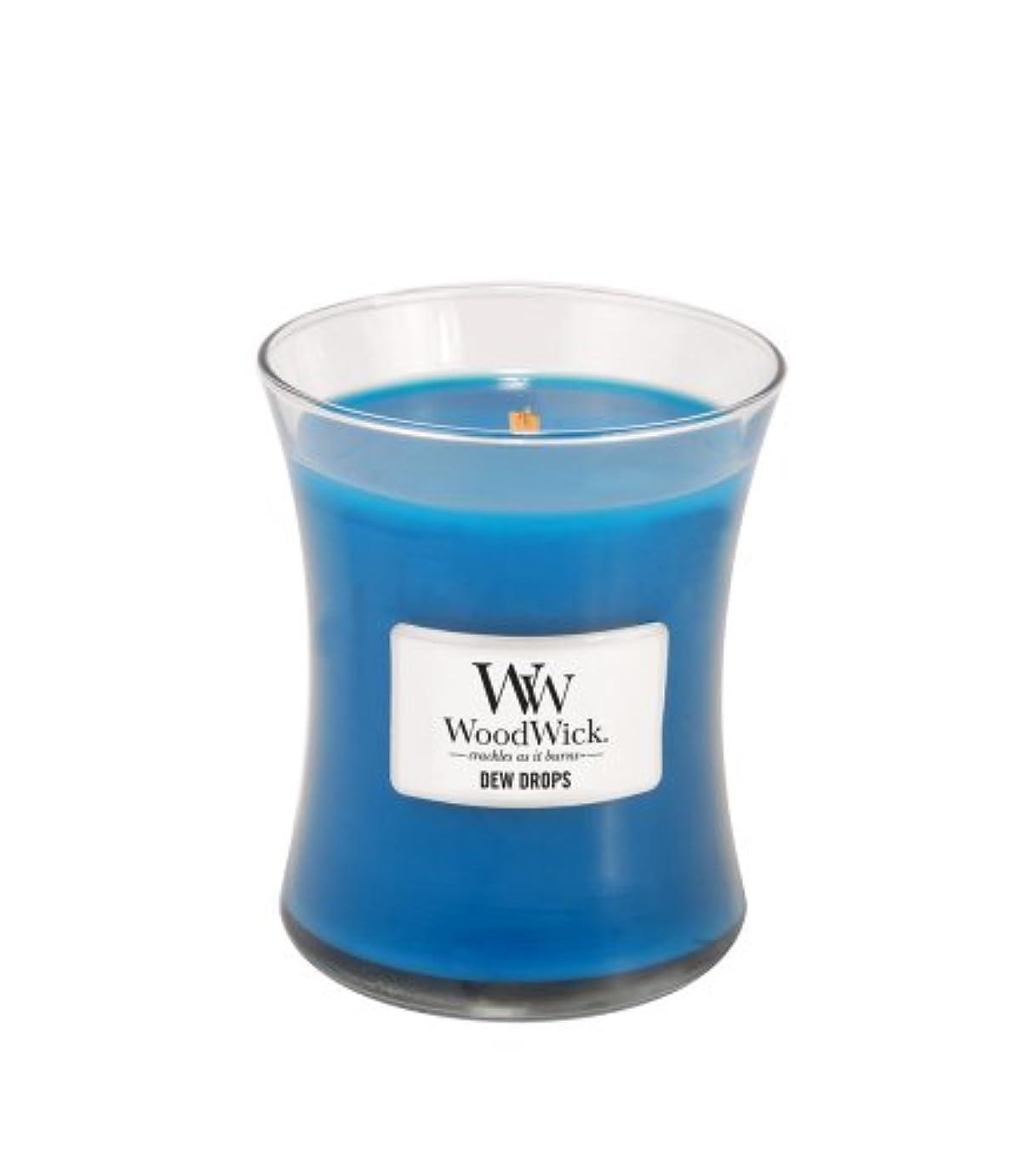 音楽を聴く兄弟愛件名(Medium) - WoodWick Dew Drops Fragrance Jar Candle, Medium