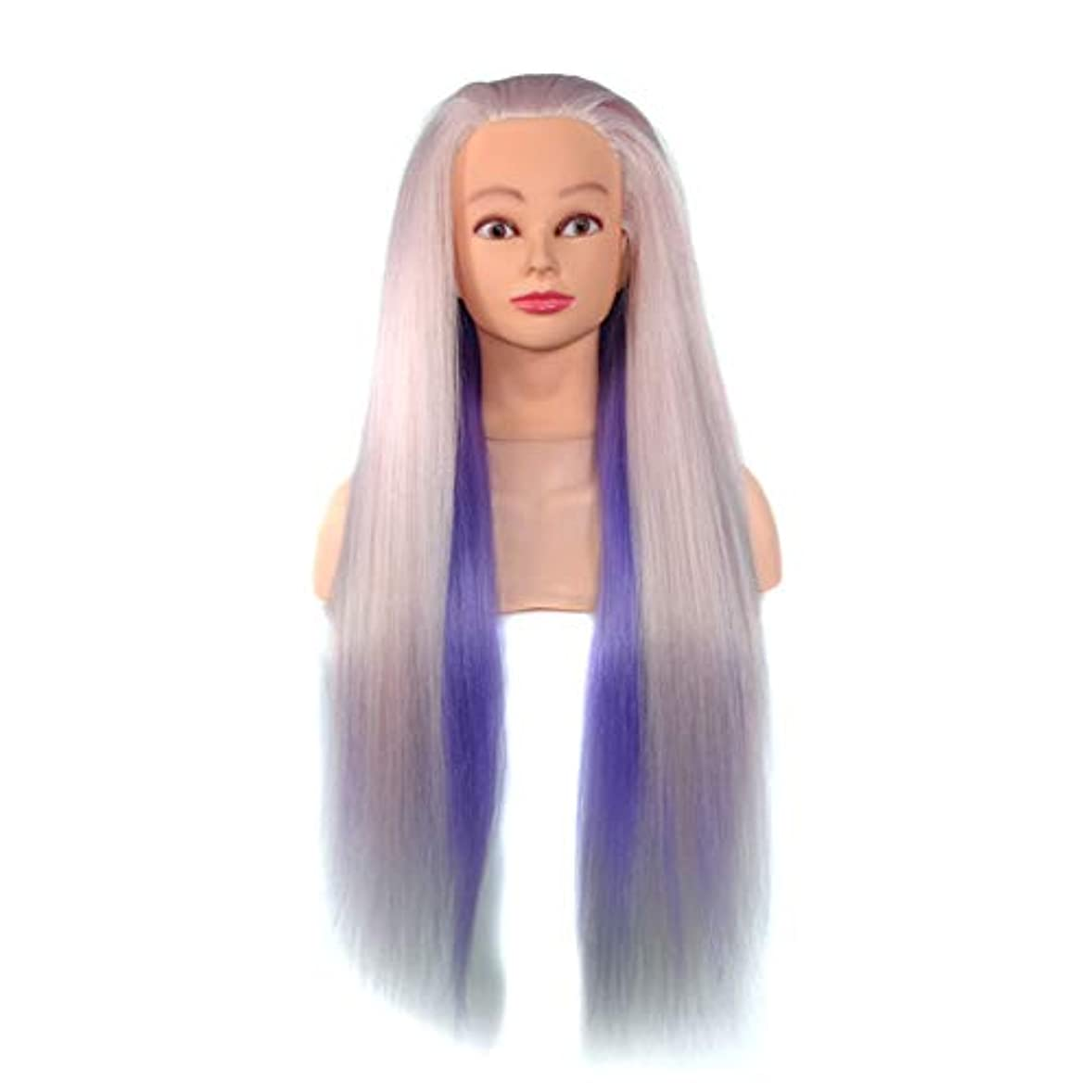 ぐるぐるクリープ飲み込む高温シルク花嫁編組エクササイズヘッドサロン教育グラデーショントレーニングヘッド理髪学習ヘッドモデル