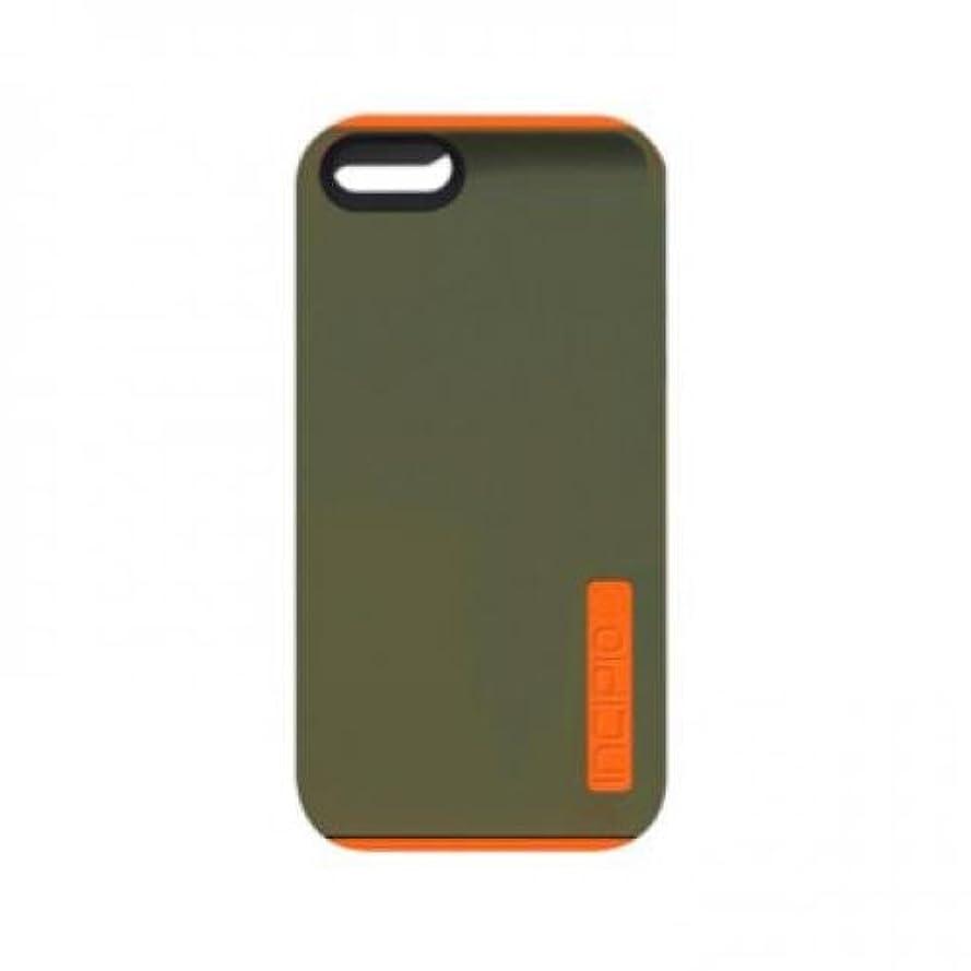 一貫した打たれたトラック国旗Incipio Technologies 【iPhone 5/5s対応シリコンハードシェルケース】 DualPro オリーブ/オレンジ IPH-1123-OLVOJ