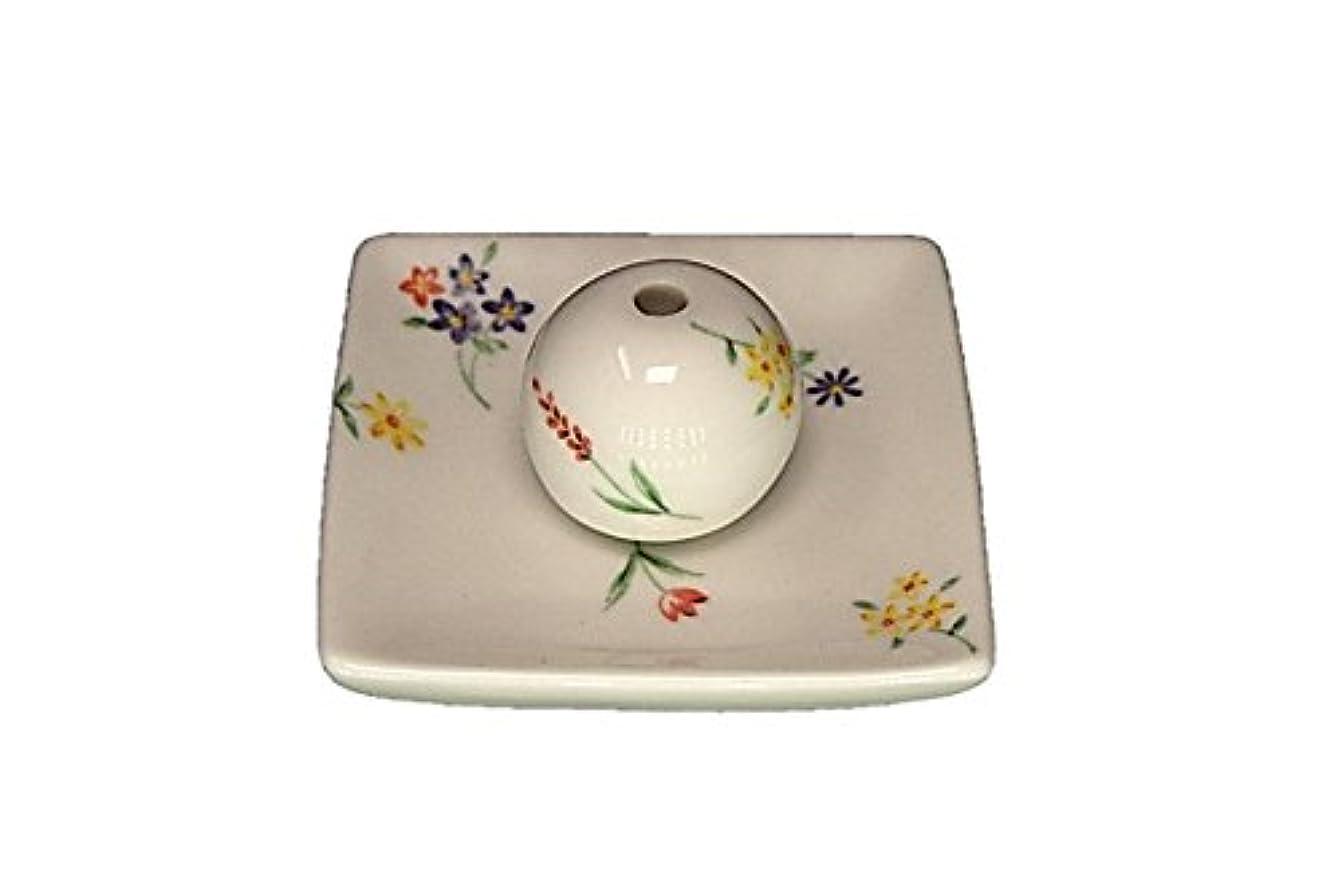 実験をするラベンダー表現ブーケ 小角皿 お香立て 陶器 製造 直売