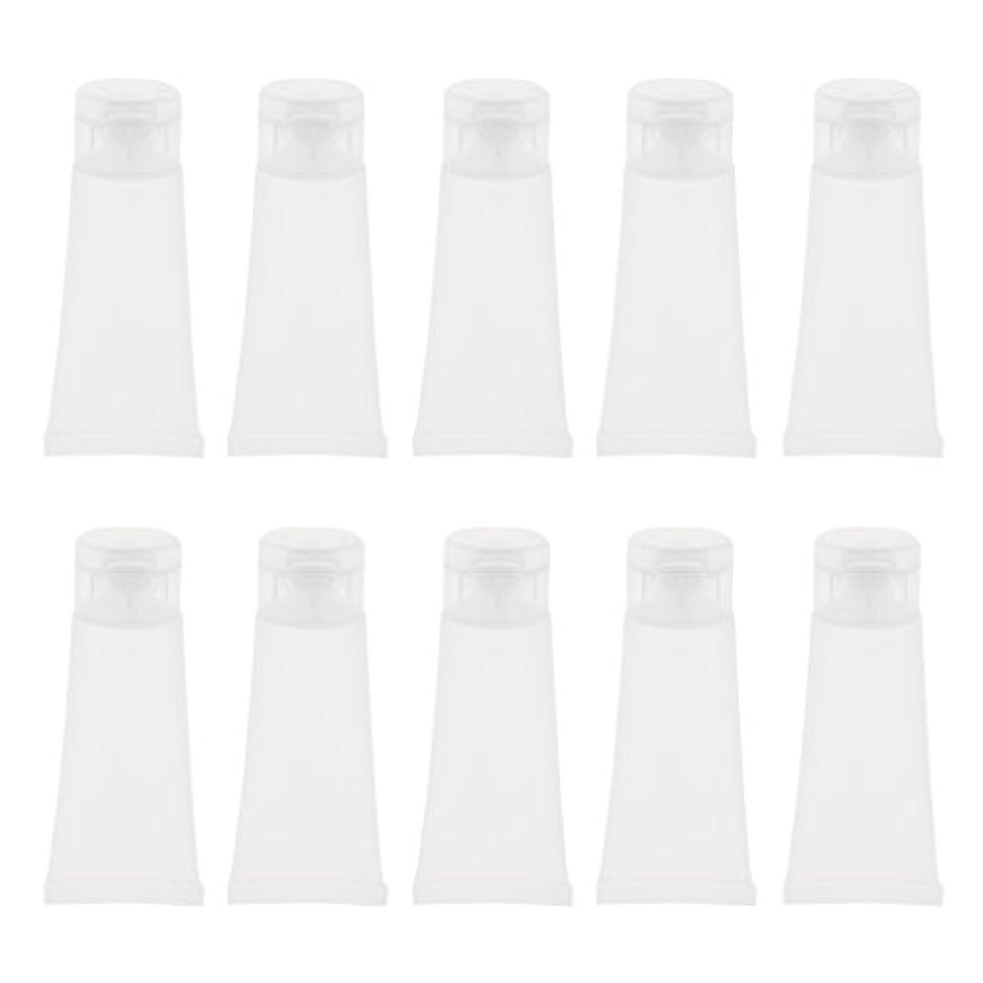 フライカイト冷蔵庫柔らかい10個 空チューブ クリームチューブ 空ボトル コスメ 詰替え DIY 2サイズ選べる - 15g