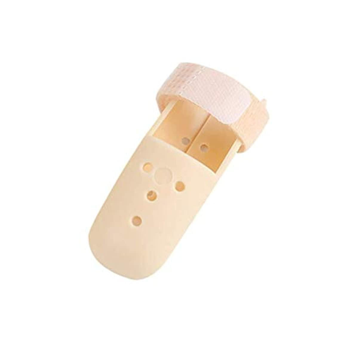 実験をするまさにセクタ外れた指の添え木指の添え木をトリガーして指の関節の矯正具を固定する