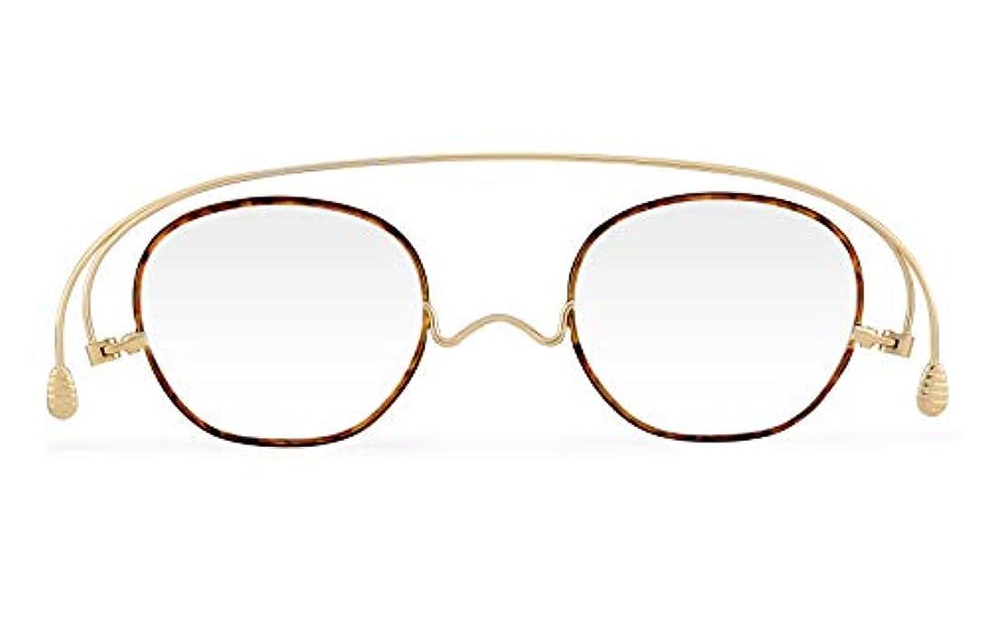 [薄さ2mmの老眼鏡ペーパーグラス] スタンダードクラシック 七宝「ボスリントン」ブラウンデミ (+1.50)おしゃれ 携帯用ケース付き 栞(しおり)型リーディンググラス メンズ レディース ギフト 鯖江 1年間保証