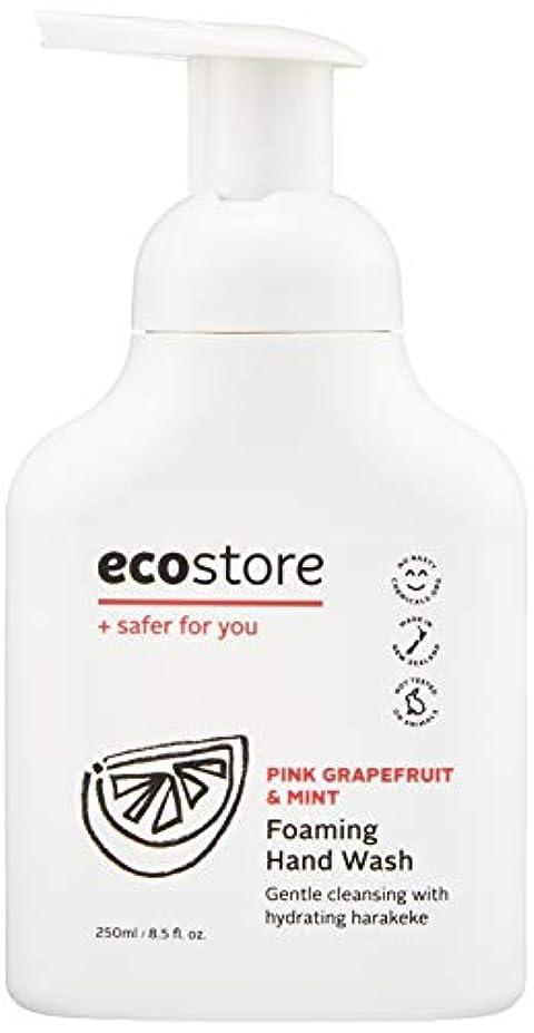 軽食マイクロフォン一方、ecostore(エコストア) ハンドウォッシュ 【ピンクグレープフルーツ&ミント】 250ml 泡タイプ